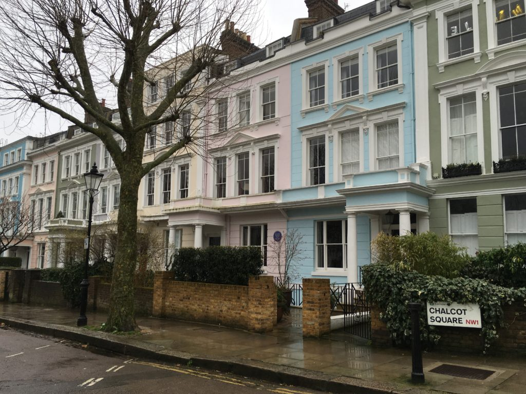 chalcot crescent row houses colorful things to see and do itinerary guide