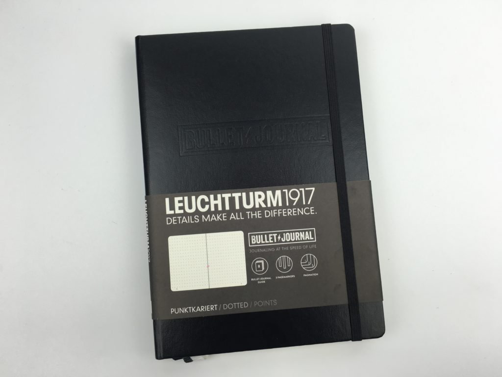 Leuchtturm 1917 Bullet Journal Notebook review ryder carroll video pros and cons pen test worth the money inspiration planner supplies tips dot grid
