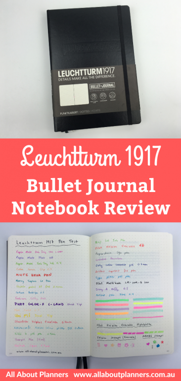 Leuchtturm1917 Bullet Journal Notebook A5 Review pros cons pen testing ghosting bleed through video flipthrough