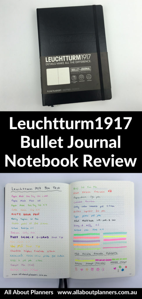 Leuchtturm1917 Bullet Journal Notebook Review pros and cons honest opinion pen test paper quality bleed through dot grid tips