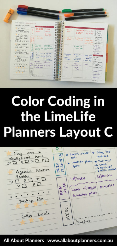 color coded weekly spread limelife planners layout c monday week start minimalist plan with me inspiration decorating