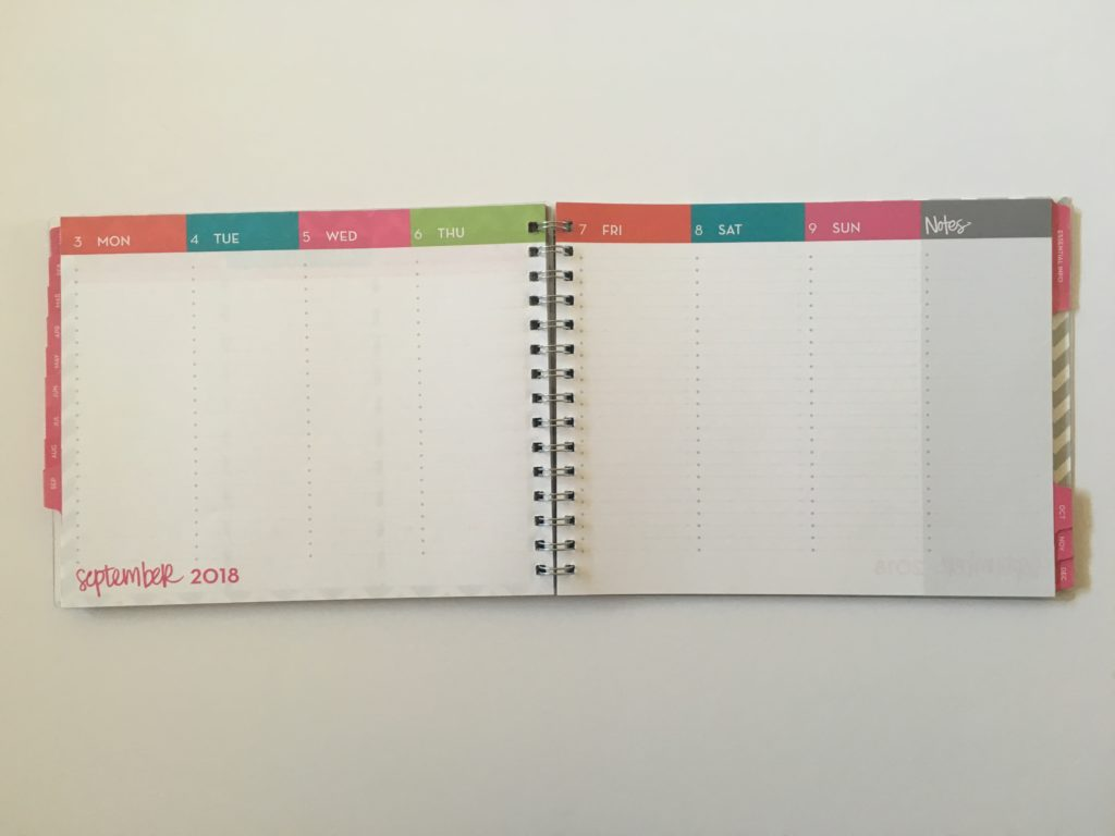 dabney lee for blue sky weekly planner review monday start vertical checklist functional list chevron landscape page orientation pros and cons 2018