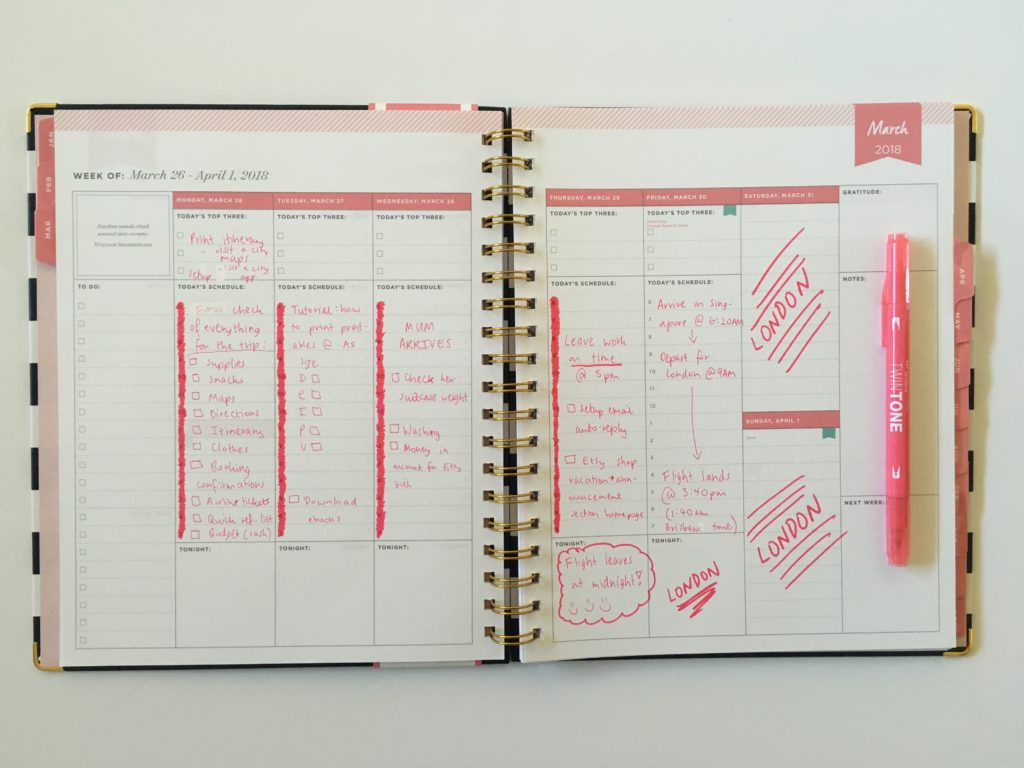 day designer for blue sky vertical weekly planner review pros and cons planner hack tombow twin tone marker pink themed spread plan with me