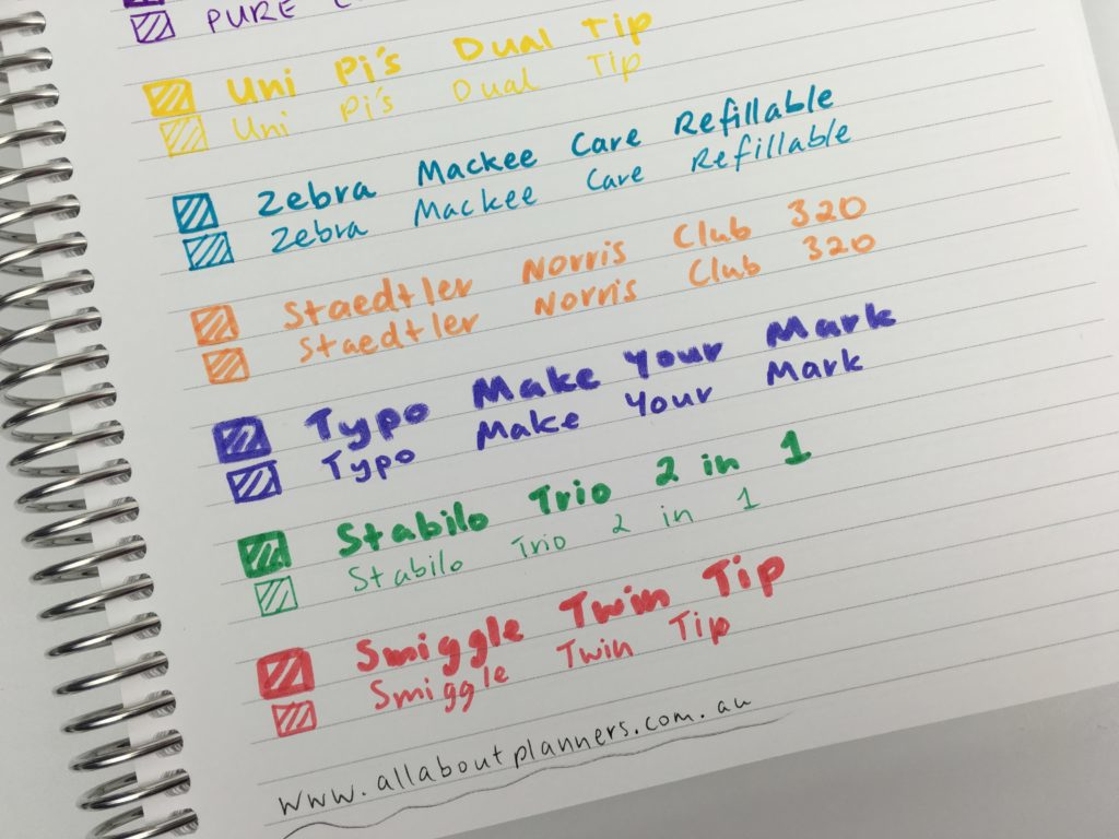 favorite dual tip marker pens twin tip roundup best planner pens supplies no ghosting bleed through review tips must have tools