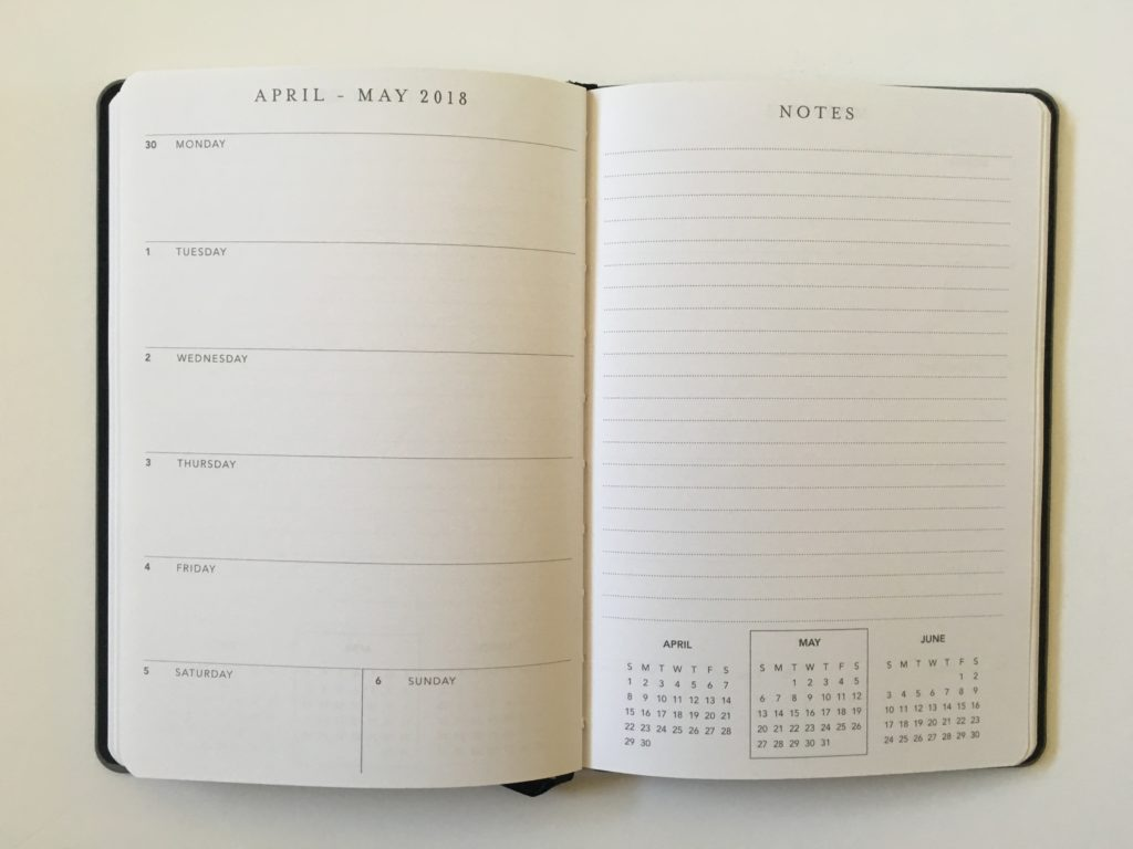graphique weekly planner review horizontal plus notes 2 page weekly spread monday start small a5 size agenda gold foil classy work planner functional