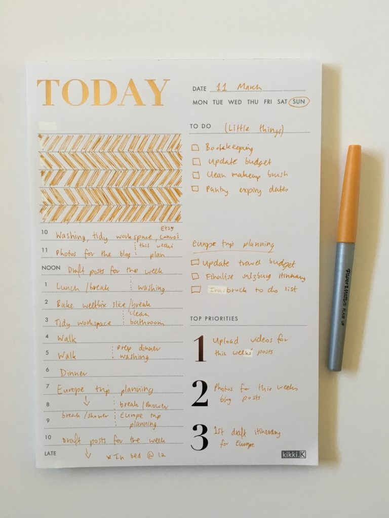 kikki k daily planner notepad review pros and cons worth the money papermate flair ultra fine decorating day to a page simple priorities to do schedule