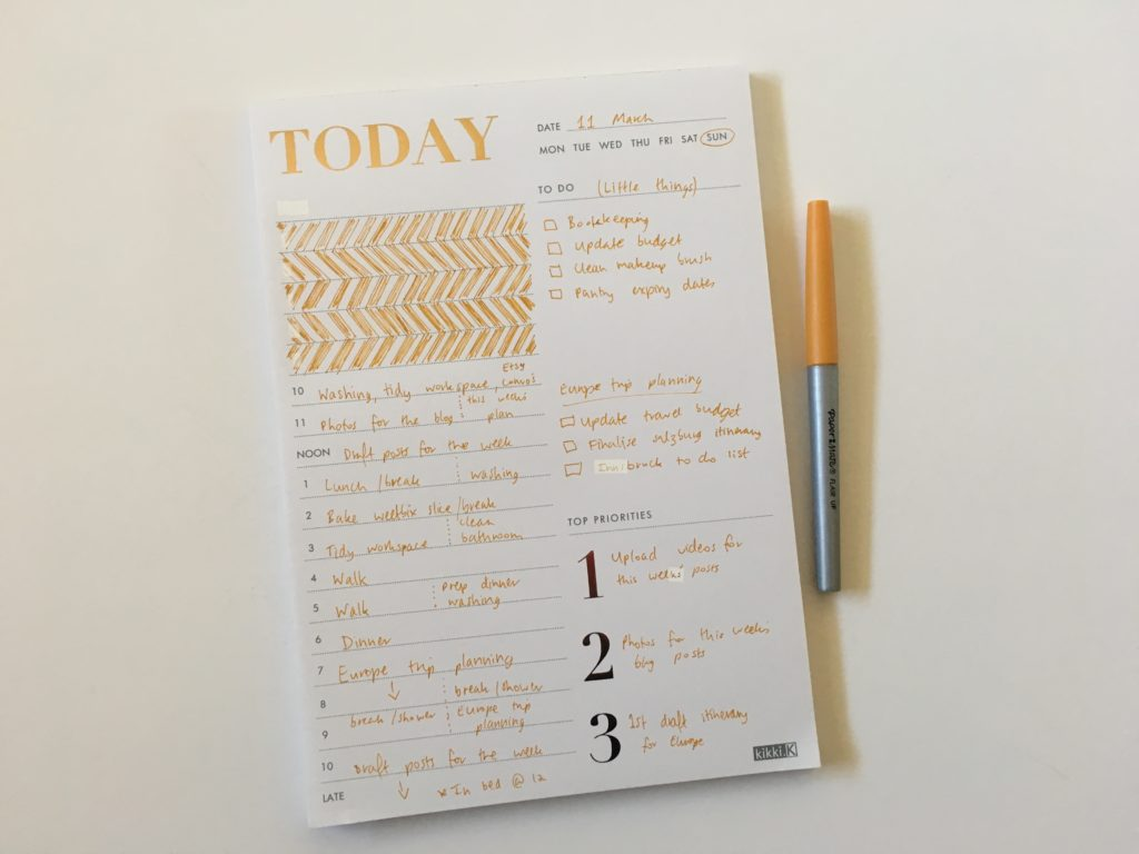 kikki k daily planner notepad review pros and cons worth the money papermate flair ultra fine decorating day to a page simple priorities to do schedule overrated