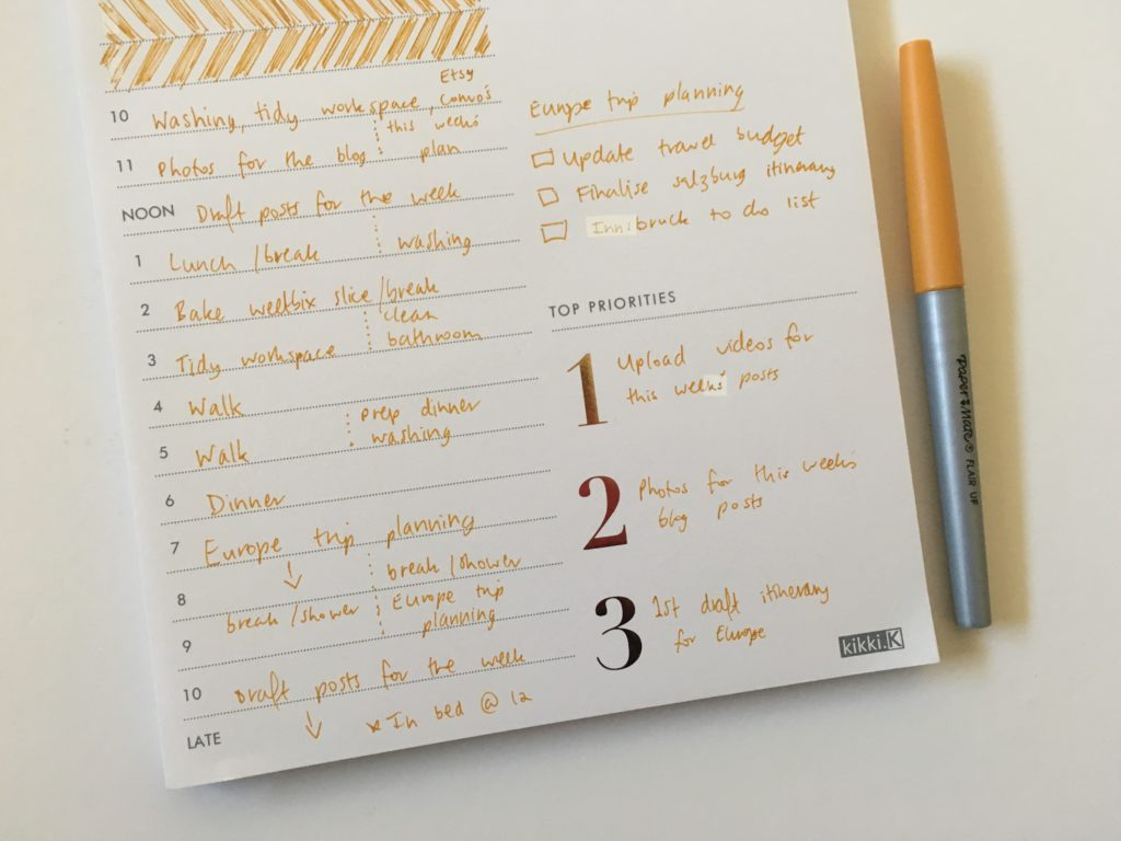 kikki k daily planning notepad review gold foil pros and cons papermate flair ultra fine schedule checklist worth the money or overrated