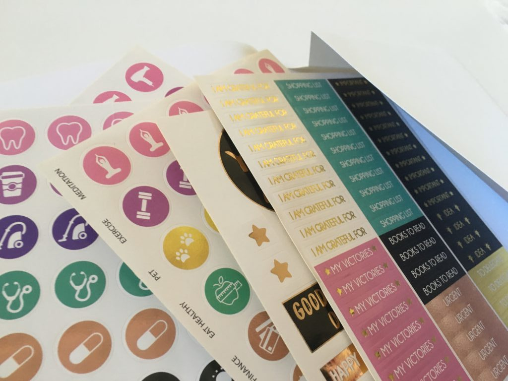 law of attraction planner stickers icon gold foil header functional review pros and cons