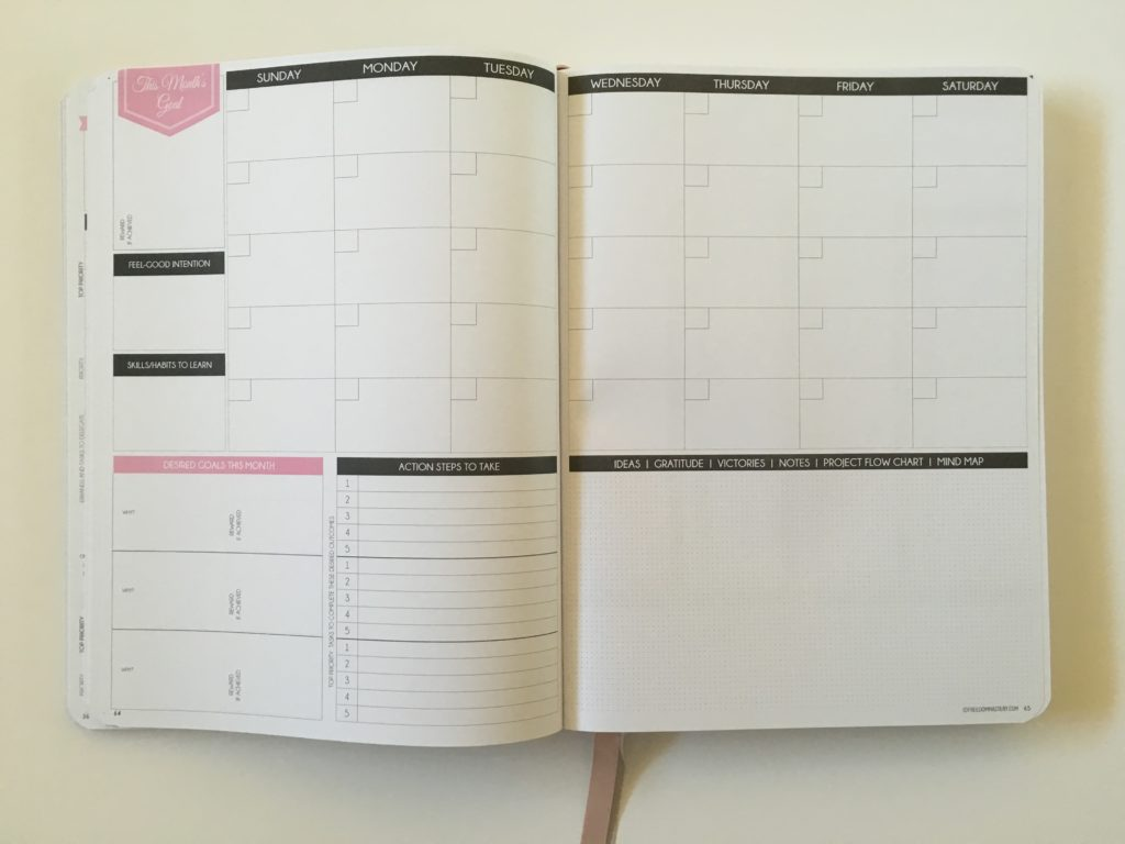 law of attraction weekly planner hourly goal setting undated 5am to 10pm half hour schedule habit tracker checklist monthly undated goals blogger business