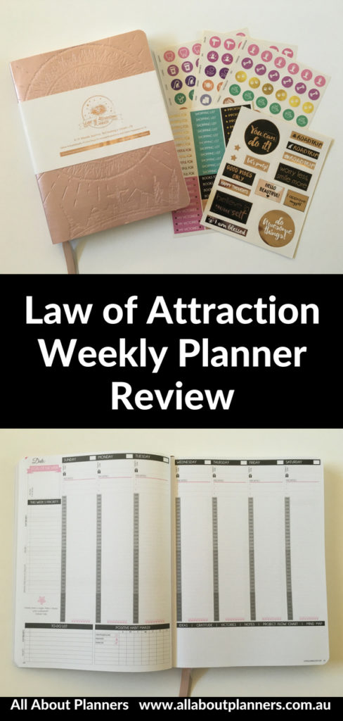 law of attraction weekly planner review vertical similar to passion planner live whale pros and cons video honest opinion