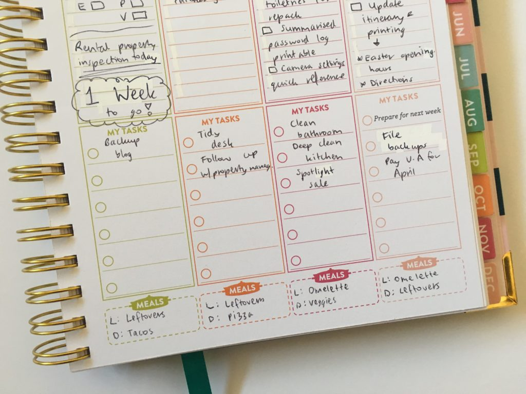 lorna leigh lane colorful weekly planner monday start rainbow glitter washi tape hourly schedule vertical tasks lined pros and cons-min