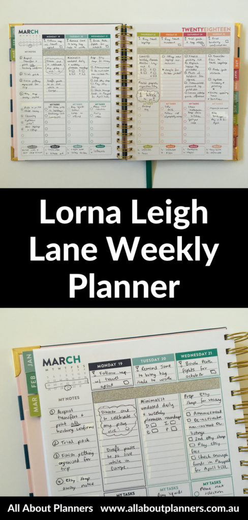 lorna leigh lane weekly planner spread rainbow converting vertical hourly similar to erin condren alternative glitter washi aus