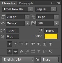 photoshop characters menu how to use introduction tools for making printables video ecourse beginner