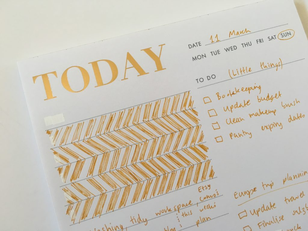 planner decorating planner mistakes kikki k notepad review doodle ideas diy minimalist how to draw a chevron gold foil notepad