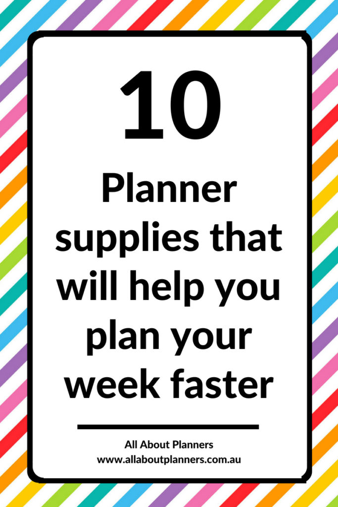 planner supplies that will help you plan faster planning tips ideas inspiration weekly spread color coding organization diy