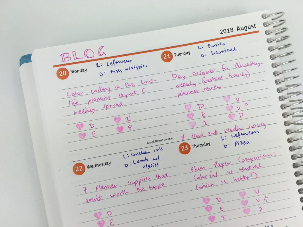 review of the agendio planner custom made weekly blog planning color coding projects pros and cons all about planners