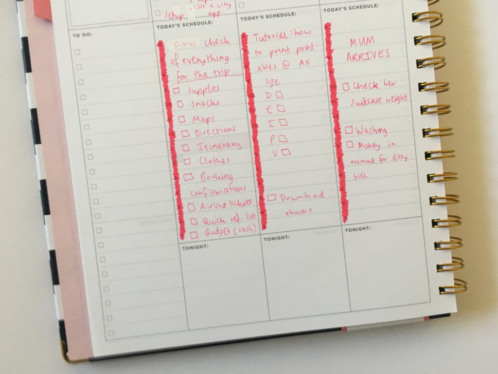 review of the day designer for blue sky vertical weekly planner pros and cons planner hack tombow twin tone marker pink themed spread plan with me