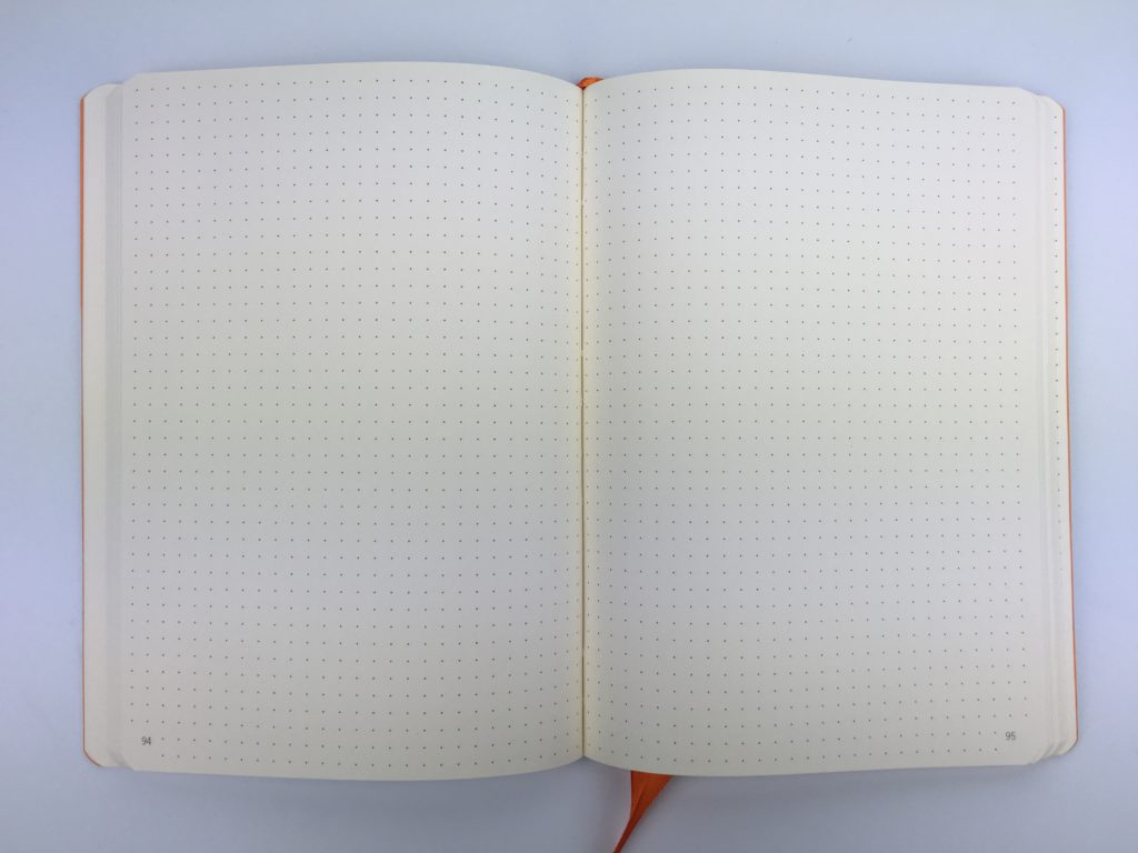rhodia goal book for bullet journaling future log dot grid numbered pages a5 size colorful review pros and cons pen test paper quality bleed through ghosting