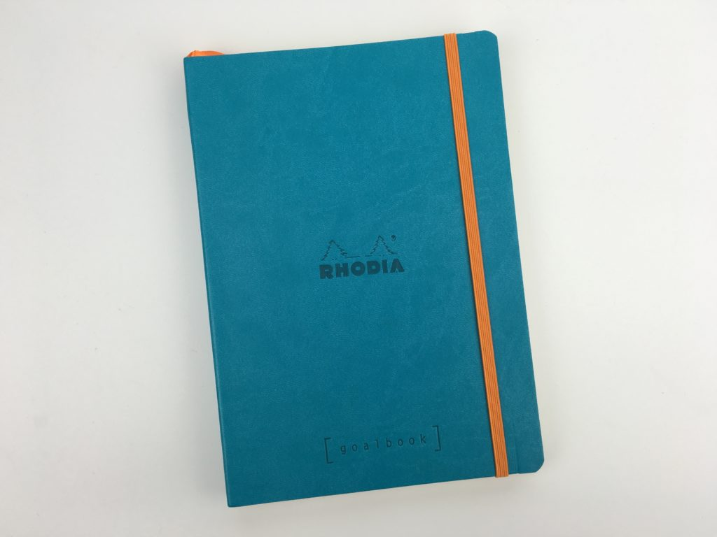 rhodia goal book for bullet journaling future log dot grid numbered pages a5 size colorful review pros and cons pen test paper quality simple gender neutral