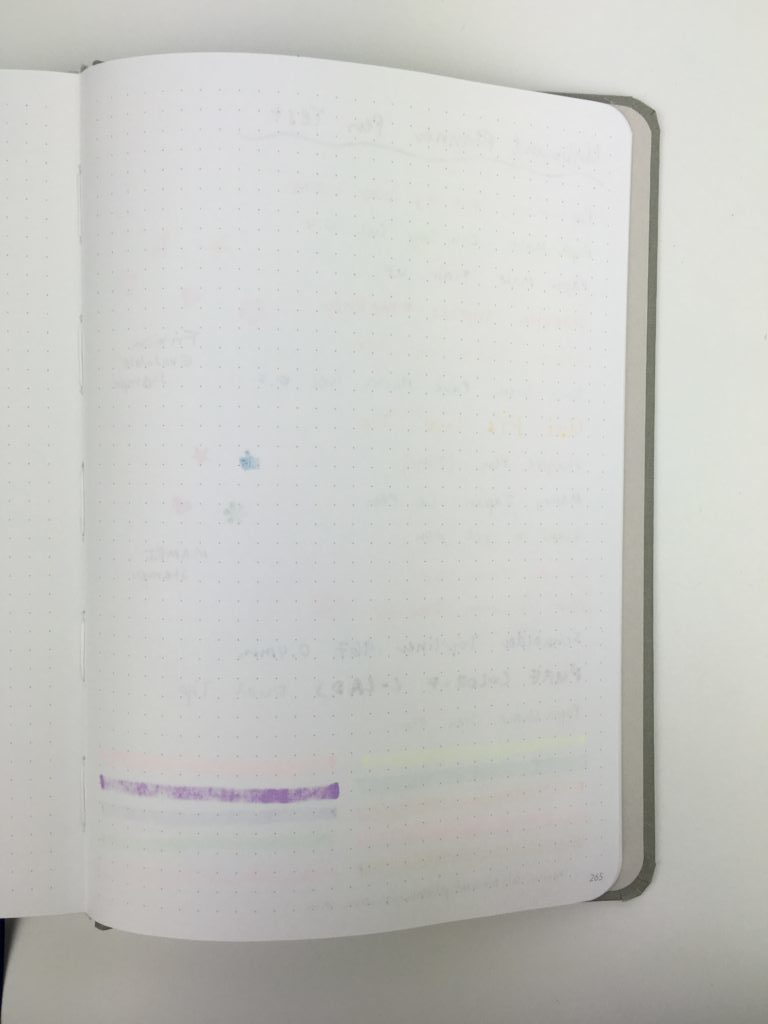 unbound weekly planner review pen testing ghosting bleed through ballpoint fine tip gel marker highlighter stamps
