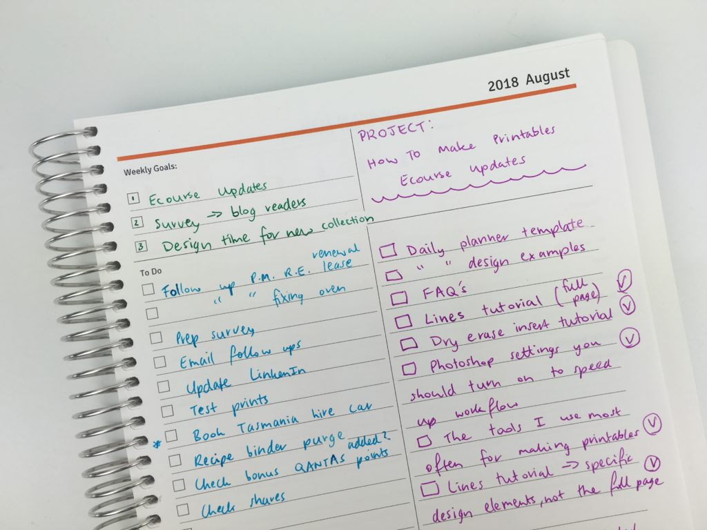 using the agendio weekly planner for project planning pros and cons video review weekly monday start custom made colorful