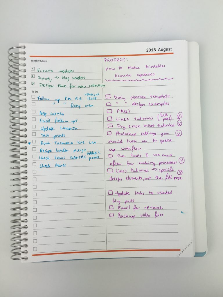 using the agendio weekly planner for project planning pros and cons video review weekly monday start custom made colorful checklist lined writing space