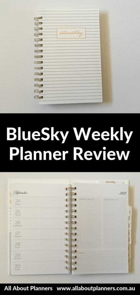Bluesky weekly planner review horizontal monday start minimalsit a5 size simple checklist work personal portable pros and cons