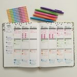 Weekly Planning in the Erin Condren Using Only Solid Color Dot Stickers