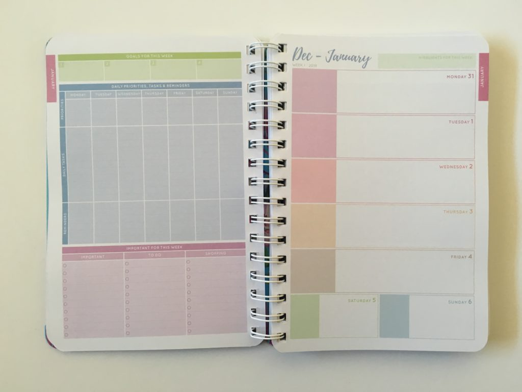 officeworks otto goals weekly planner horizontal 2 page spread