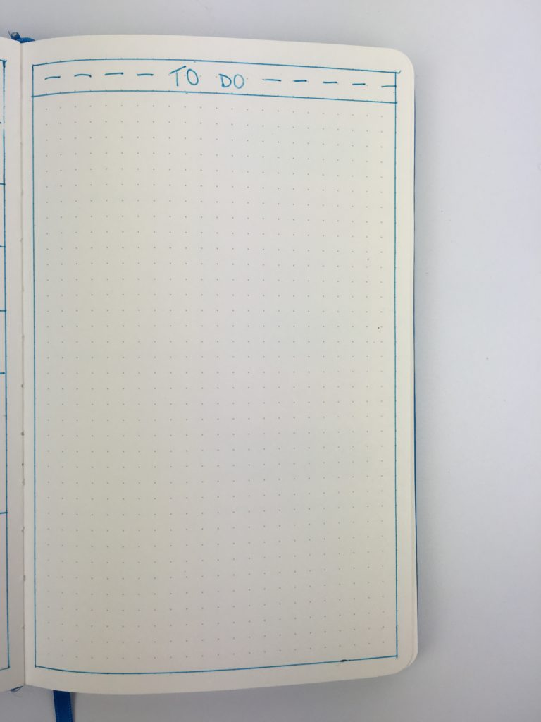 bullet journal weekly add on page checklist to do list simple minimalist functional ideas inspo layout 1 page