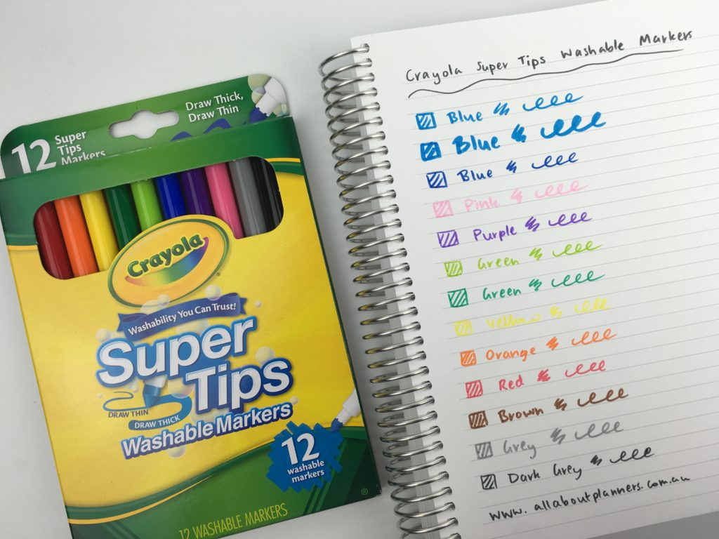 crayola supertips pen review color coding dual tip hand lettering marker pens headings planner decorating haul pros and cons worth the money favorite supplies