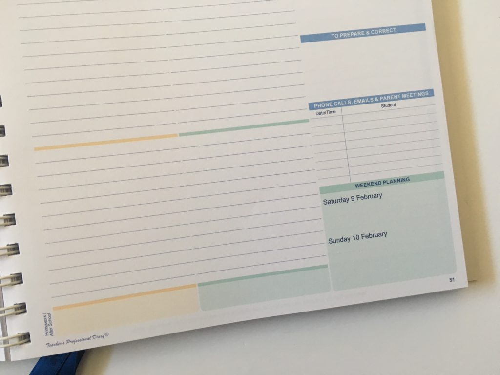 createl teacher planner review australian made a4 size school agenda organizer calendar academic year calendar year 5 day week
