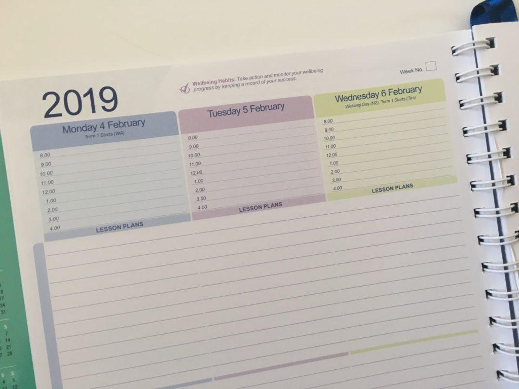 createl teacher planner review australian made a4 size school agenda organizer calendar academic year calendar year lined writing space