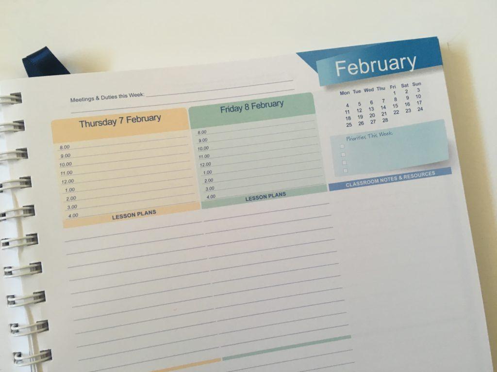 createl teacher planner review australian made a4 size school agenda organizer calendar academic year calendar year schedule color coding