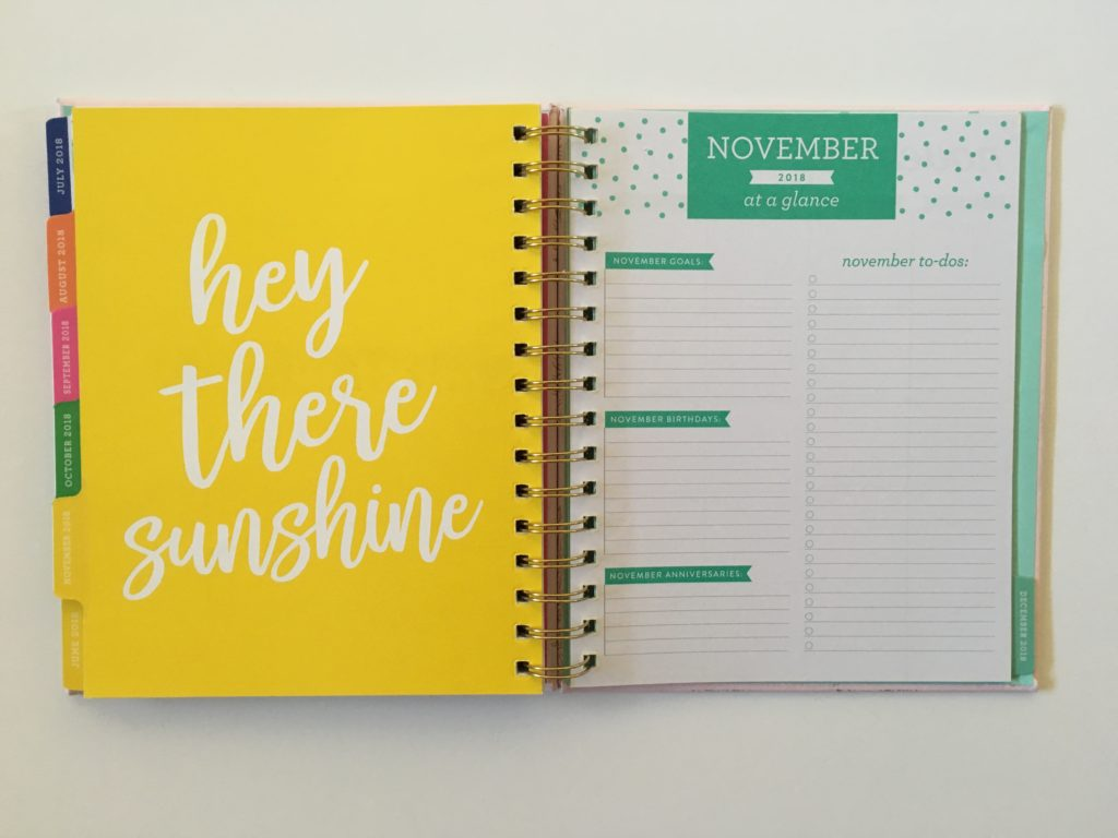 eccolo planner review monthly goals notes ideas cute colorful cheaper alternative to erin condren mambi happy planner similar medium size decorative