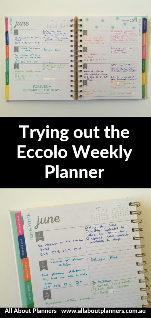 eccolo weekly planner review pros and cons rainbow horizontal lined unlined