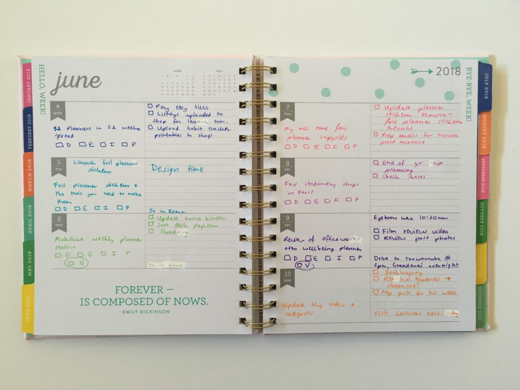 eccolo weekly planner spread review cheaper alternative to erin condren plum paper limelife planners horizontal lined monday start cute