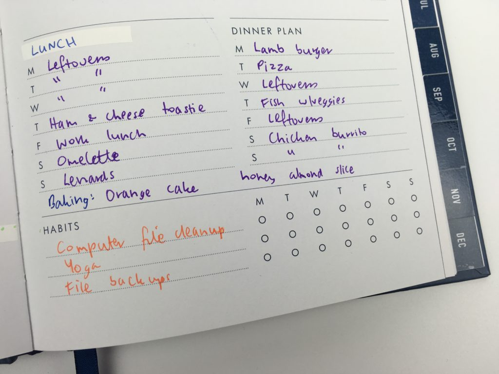 kikki k weekly planner review pros and cons goal habit color coding rainbow checklist habit tracker a5 size quality