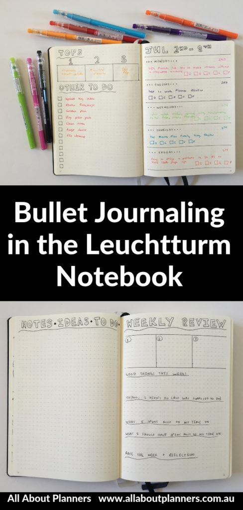 leuchtturm weekly planner review color coding horizontal notes blog planning review pros and cons paper quality pen bleed throug