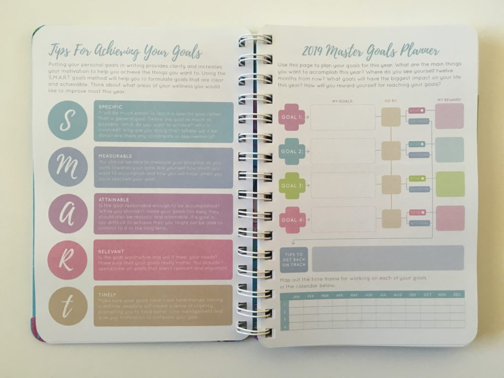 otto my goals weekly planner review a5 size horizontal colorful cheaper alternative to erin condren important dates lined goal planning