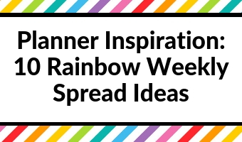 planner inspiration rainbow weekly spreads color coding themes decorating ideas inspo
