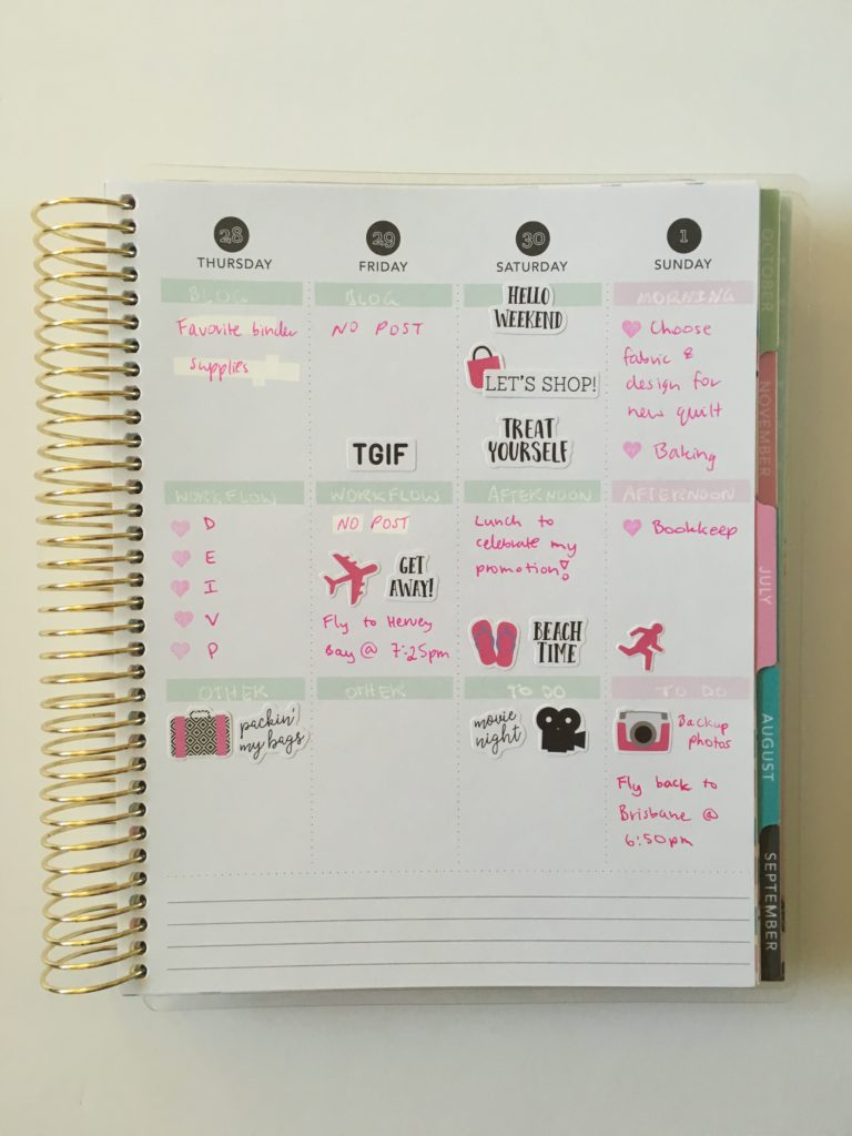 recollections vertical weekly spread pink carpe diem planner stickers simple decorating pink ombre all about planners blog