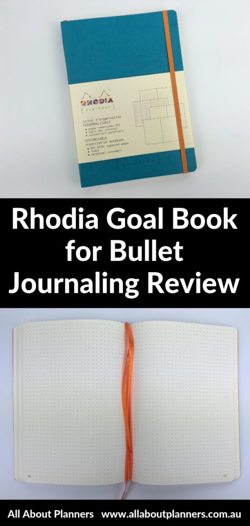 rhodia goalbook review video pros and cons bullet journal dot grid colorful a5 size lay flat alternative to leuchtturm 1917