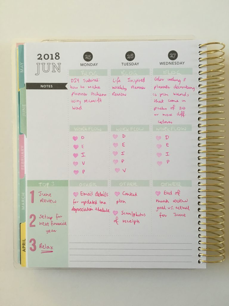 simple planner decorating minimalist recollections vertical weekly ombre frixion erasable pens pink