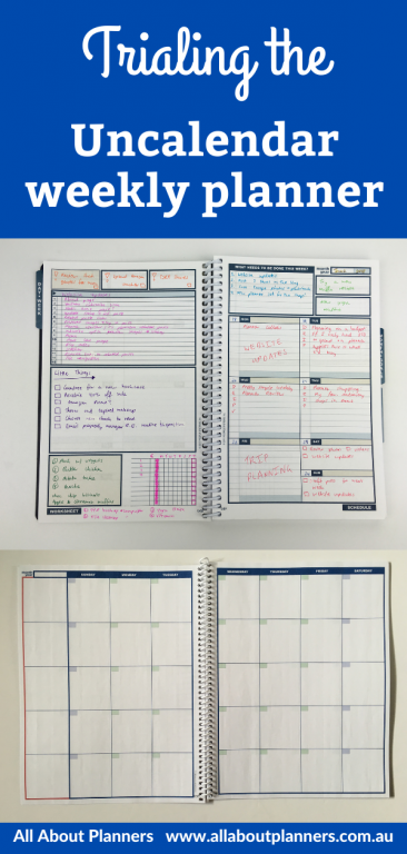 trying out the uncalendar weekly planner review you choose the sections categories per day lined monday week start project planning habits