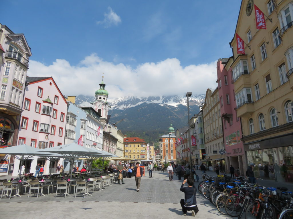 innsbruck austria in spring things to see and do cute european city shopping quaint snow capped mountains spring april