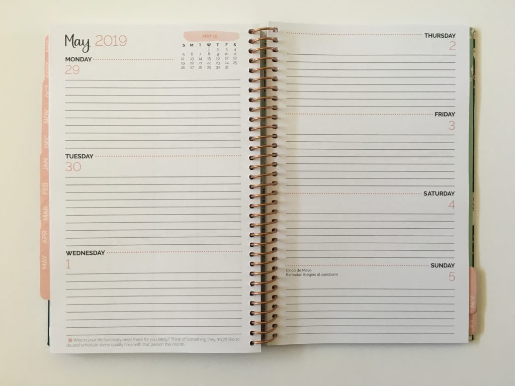 bloom horizontal weekly planner review pros and cons tabs lined student a5 page size compact light