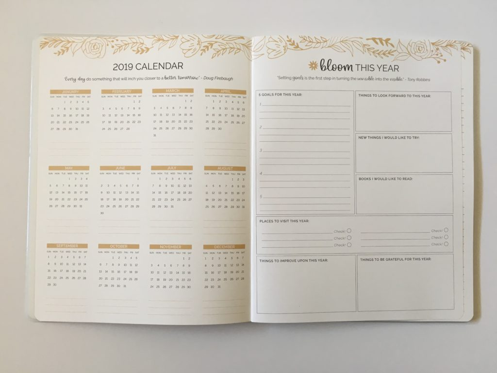 bloom monthly calendar 2019 review pros and cons important dates