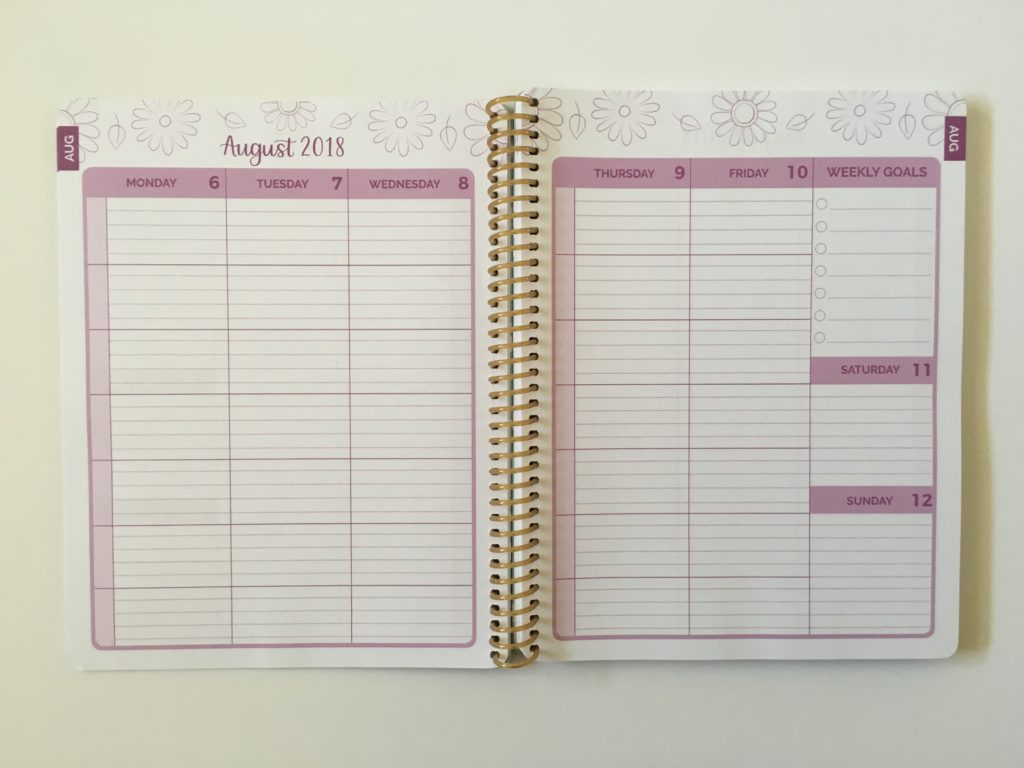 bloom student weekly planner review pros and cons video 2 page weekly spread lined monday subjects categories colorful